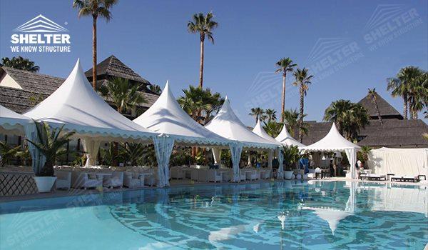 High peak Gazebo canopy - wedding reception - destination wedding - hotel wedding ceremony - Shelter aluminum structures for slae (3)