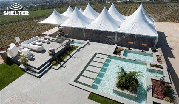 gazebo tents - High peak Gazebo canopy - wedding reception - destination wedding - hotel wedding ceremony - Shelter aluminum structures for slae (42)