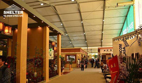 exhibition tents - marquee for large scale exhibitions - tent canopy for expositions - trade show tents - canvas for fair - Shelter aluminum structures for sale (1551)