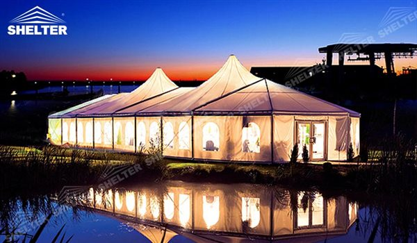 outdoor wedding tents - mixed party tents - multi shapes marquee - bellend canvas - large wedding marquees - 6 side bellend tent - 8 side bellend tents - 12 side bellend marquees - Shelter aluminum structures for sale (20)