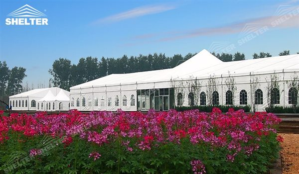 temporary wedding hall - mixed party tents - multi shapes marquee - bellend canvas - large wedding marquees - 6 side bellend tent - 8 side bellend tents - 12 side bellend marquees - Shelter aluminum structures for sale (4)