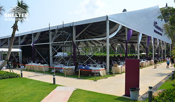 wedding tents for sale - pool side party - wedding marquee - pavilion for luxury wedding ceremony - canopy for outdoor party - wedding on seaside - in hotel - Shelter aluminum structures for sale (000017)