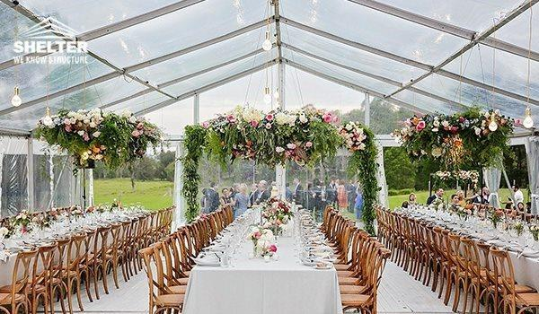 Marquee roof white tent custom design marquee for Garden pool party 2015