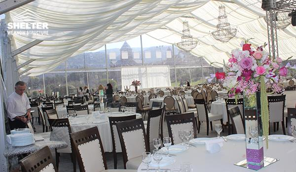 Clear wedding tent for farmhouse banquet royal marriage for Garden pool wedding