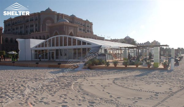 curved marquee - wedding marquee - pavilion for luxury wedding ceremony - canopy for outdoor party - wedding on seaside - in hotel (1)