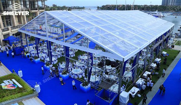 outdoor wedding venues - wedding marquee - pavilion for luxury wedding ceremony - canopy for outdoor party - wedding on seaside - in hotel - Shelter aluminum structures for sale (124)