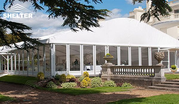 curved marquee - wedding marquee - pavilion for luxury wedding ceremony - canopy for outdoor party ... & Curved Marquee with Glass Wall for Sale | For Garden Wedding Canopy