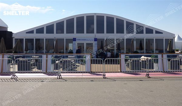 curved marquee - wedding marquee - pavilion for luxury wedding ceremony - canopy for outdoor party - wedding on seaside - in hotel - Shelter aluminum structures for sale (300)