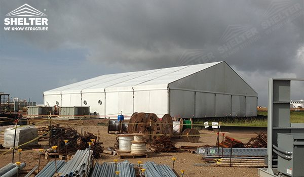 industrial storage - temporary warehouse structure - storage building - semi permanent workshop - tent for car maintanence - Shelter aluminum tent structures for sale 2 (141)