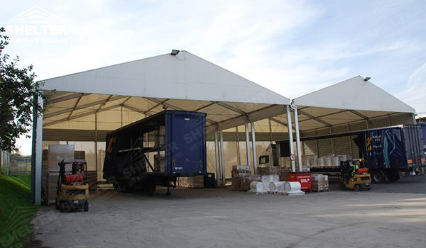 warehouse tents - temporary warehouse structure - storage building - semi permanent workshop - tent for ... & Aluminum Warehouse Tents for Sale as Loading Bay Cover| Tent ...
