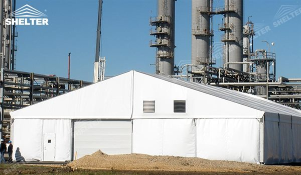 Industrial Temporary Shelters : Clear span tent for construction shed industrial storage