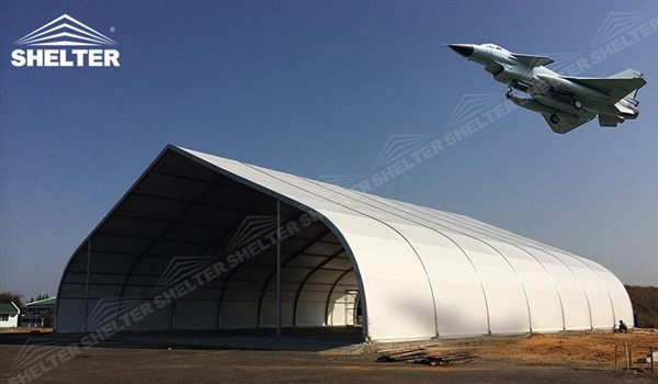 Aircraft Hangar - temporary warehouse structure - storage building - semi permanent workshop - tent for car maintanence - Shelter aluminum tent structures for sale 2 (22)