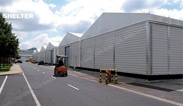 industrial tents - temporary warehouse structure - storage building - semi permanent workshop - tent for ... & 65x180m Aluminum Industrial Tents for Rapid Response Warehouse