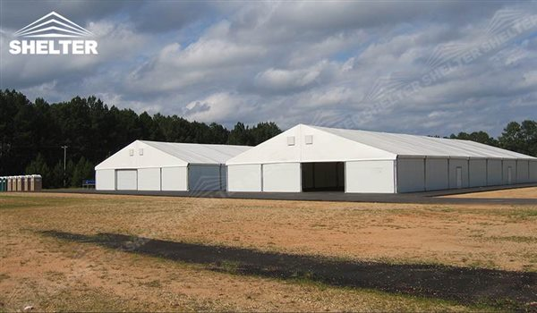 ... industrial tents - temporary warehouse structure - storage building - semi permanent workshop - tent for ... & 65x180m Aluminum Industrial Tents for Rapid Response Warehouse