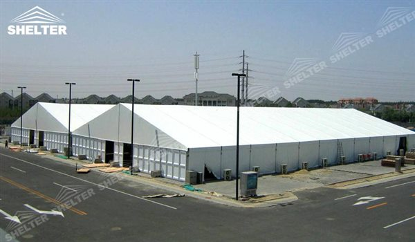 temporary storage building - temporary warehouse structure - storage building - semi permanent workshop - tent for car maintanence - Shelter aluminum tent structures for sale 2 (6)