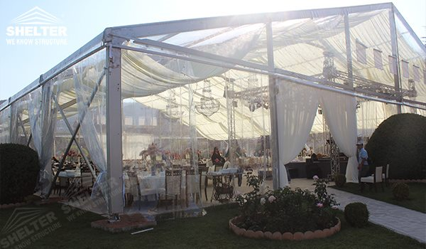 outdoor wedding venue - wedding marquee - pavilion for luxury wedding ceremony - canopy for outdoor party - wedding on seaside - in hotel - Shelter aluminum structures for sale (293)